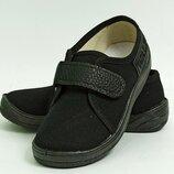 Кеды WALDI Саша-3 черный черная подошва для мальчиков. Размеры 24-30