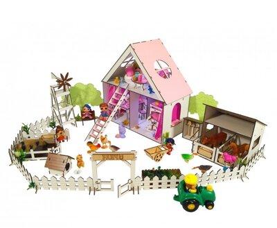 Кукольный домик для лол, мебель, текстиль ранчо.