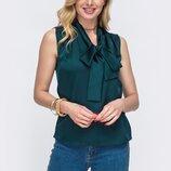 Летняя блузка с фантом, шелк. 3 цвета