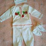 Чудовий костюм вишиванка для малечі 0-3 місяці