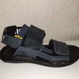 Кожаные босоножки на мальчика 32-39 р Santegros, синие, сантегрос, сандалии, сандали, босоніжки