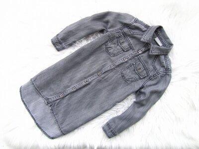 Качественная и стильная джинсовая рубашка туника Matalan