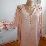 блузка пудренная шифоновая модная р22 батал