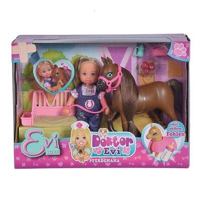 Кукольный набор Simba Toys Доктор Эви Лошадка с новорожденным жеребенком 5733487