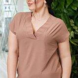Женская легкая блуза батал ткань супер софт арт.68326 скл.1