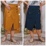 Стильная юбка миди длины беспроигрышный вариант р.48,50,52,54 код 3409М
