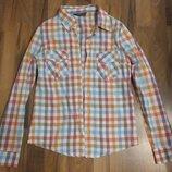 Женская рубашка клетка. Размер С 40