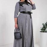 Длинное трикотажное платье Надежда размер 50,52,54,56 код 8324