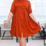 Платье Женское большого размера, платье-рубашка, жіноче плаття батал, плаття-сорочка