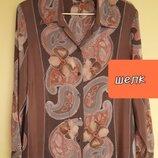 54/56 шелк.винтажная блуза,рубашка