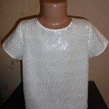 Продаю блузу Primark в паеточках, 9-10 лет.