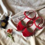 Шикарные красные босоножки на каблуке в идеале от Pier One