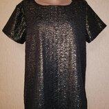 Красивая женская золотистая футболка блузка Isle