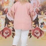костюм Ткань Верх - натуральный хлопок Низ - натуральный лён Цвет персик Длина верха - 76/83см