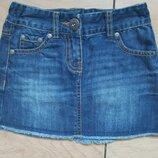 бренд Next модная джинсовая юбка,р.104 4-5лет