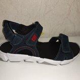Кожаные босоножки на мальчика 32-36 р Santegros, синие, сантегрос, сандалии, сандали, босоніжки