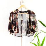 Шикарное укороченное кимоно накидка New Look
