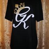 Стильная женская трикотажная футболка с принтом Gym King