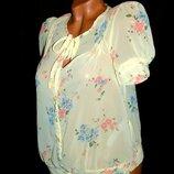 Шикарная лёгкая блуза нежно жёлтого цвета - XS - S