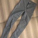 Невероятные Серые джинсы с высокой посадкой супер-скинни вторая кожа