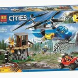 Конструктор Bela 10863 Город Погоня в горах аналог Lego City 60173