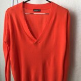 Тонкий приятный к телу яркий пуловер Janina