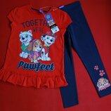 Комплект,костюм футболка и лосины George для девочки 3-4 года
