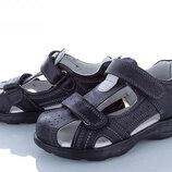 Босоножки сандалии кожаные для мальчиков Тм Clibee AB26 размеры 32- 37