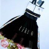 Костюм, топ, юбка, рост 140, 146, 152, 158 см, арт.ML-022-0522/Likee-G