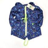 Демисезонная детская куртка ветровка для мальчика синяя 3-7 лет 1829-1