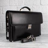 Портфель кожаный мужской desisan 217-1 черный классический