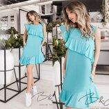 Коттоновое платье на лето Мятное