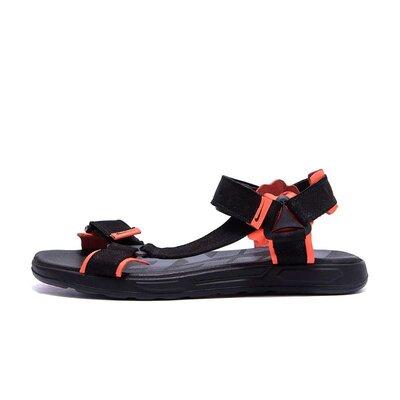 Мужские кожаные сандалии Nike Track Black orange