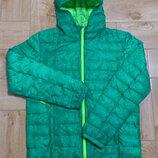 Куртка мужская легкая стеганая зеленая Crane Крейн Куртка чоловіча стоьобана зелена