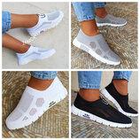 Супер цена Белые, черные, серые слипоны мокасины кеды кроссовки сетка летние женские
