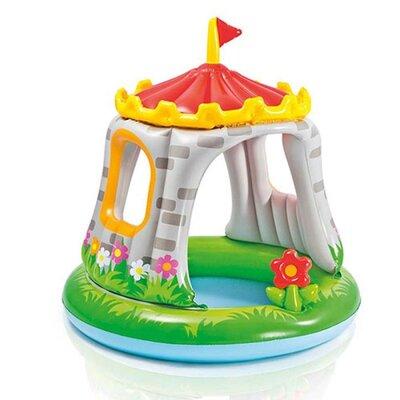 Бассейн 57122 детский круглый с навесом, замок