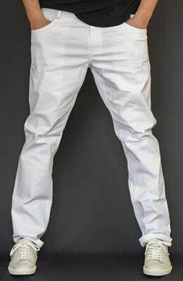 Мужские брюки из хлопковой ткани белые Esprit р. 48-50 34/32 Германия