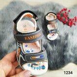 Детские босоножки, сандали для мальчика. Открытые. Р 21-26