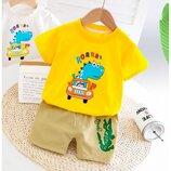 Летний костюм для мальчика футболка и шорты р.80-120