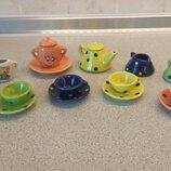 Миниатюрный керамический чайный сервис на 15 предметов