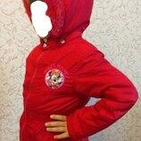 Зимняя куртка disney на 6-7 лет рост 122-128см
