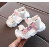 Детские сандалии с защитой для пальчиков р.15-25 для девочки