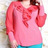 Нарядная блуза больших размеров 52-60