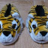 Тапочки женские зимние комнатные мордочка тигра Тигровые тапочки жіночі кімнатні Slippers