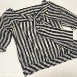 Блуза шифоновая в полоску