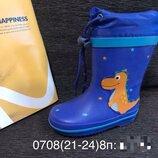 Резиновые сапоги 21-24р. biki 0708 дракоши blue ,13