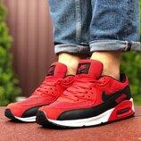 Кроссовки мужские Nike Air Max 90, красные 41-46р