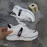 Белые женские кроссовки маломерки , белые кроссовки, білі кросівки 37-41р код 15020