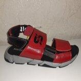 Кожаные босоножки 31-39 р Santegros, красные, сантегрос, сандалии, сандали, босоніжки, шкіряні