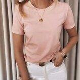 Базовая женская футболка, жіноча базова футболка, однотонна футболка